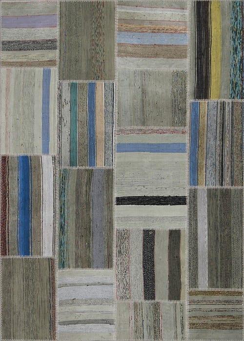 Vloerkleed Patch Collection - 8 - 308 Nieuw - Handgeweven Patchwork-tapijt. Samenstelling: 80% katoen + 10% wol + 10% geiten wol. Rug (gelijmd en genaaid): 100% katoen. Indien niet in voorraad is de levertijd circa 5 weken. Maatwerk mogelijk.