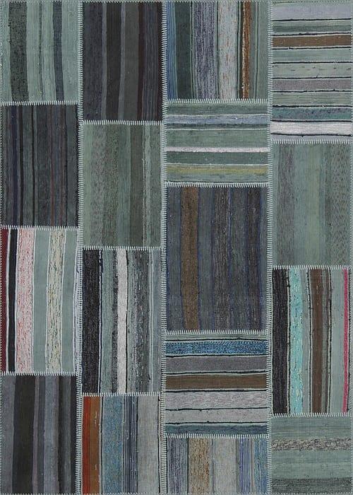 Vloerkleed Patch Collection - 8 - 309 Nieuw - Handgeweven Patchwork-tapijt. Samenstelling: 80% katoen + 10% wol + 10% geiten wol. Rug (gelijmd en genaaid): 100% katoen. Indien niet in voorraad is de levertijd circa 5 weken. Maatwerk mogelijk.