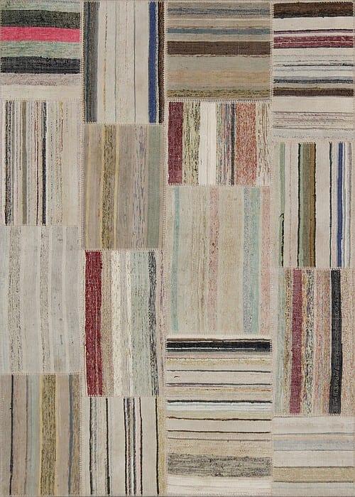 Vloerkleed Patch Collection - 8 - 311 Nieuw - Handgeweven Patchwork-tapijt. Samenstelling: 80% katoen + 10% wol + 10% geiten wol. Rug (gelijmd en genaaid): 100% katoen. Indien niet in voorraad is de levertijd circa 5 weken. Maatwerk mogelijk.