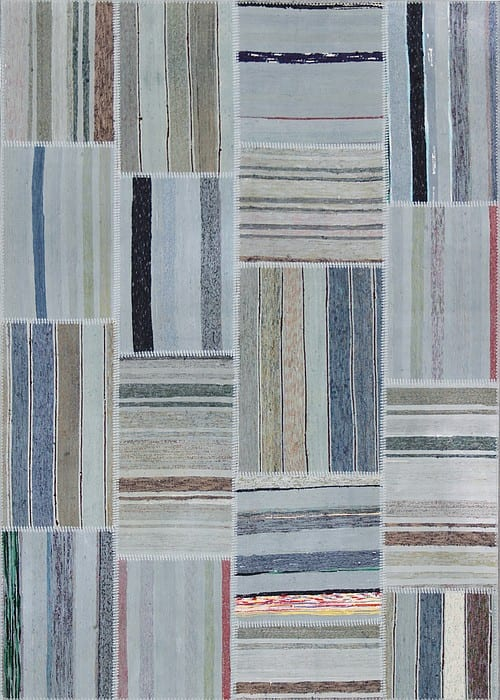 Vloerkleed Patch Collection - 8 - 313 Nieuw - Handgeweven Patchwork-tapijt. Samenstelling: 80% katoen + 10% wol + 10% geiten wol. Rug (gelijmd en genaaid): 100% katoen. Indien niet in voorraad is de levertijd circa 5 weken. Maatwerk mogelijk.