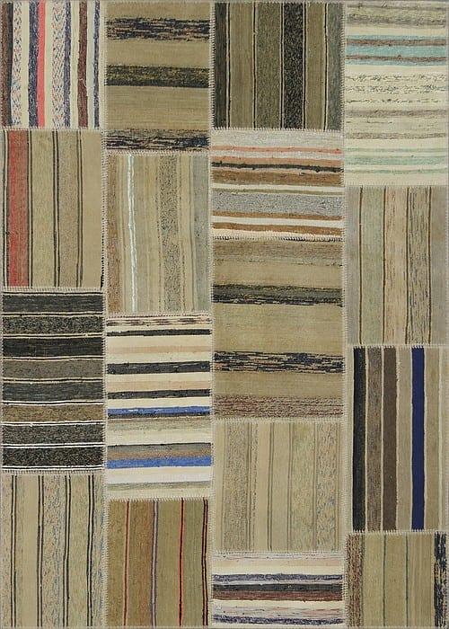 Vloerkleed Patch Collection - 8 - 314 Nieuw - Handgeweven Patchwork-tapijt. Samenstelling: 80% katoen + 10% wol + 10% geiten wol. Rug (gelijmd en genaaid): 100% katoen. Indien niet in voorraad is de levertijd circa 5 weken. Maatwerk mogelijk.