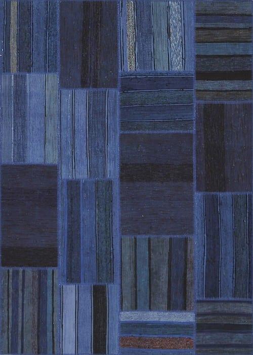 Vloerkleed Patch Collection - 8 - 315 Nieuw - Handgeweven Patchwork-tapijt. Samenstelling: 80% katoen + 10% wol + 10% geiten wol. Rug (gelijmd en genaaid): 100% katoen. Indien niet in voorraad is de levertijd circa 5 weken. Maatwerk mogelijk.