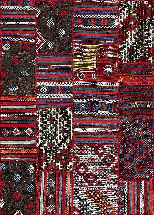 Vloerkleed Patch Collection - 9 - 001 Nieuw - Handgeweven Patchwork-tapijt. Samenstelling: 100% wol. Rug (gelijmd en genaaid): 100% katoen. Indien niet in voorraad is de levertijd circa 5 weken. Maatwerk mogelijk.