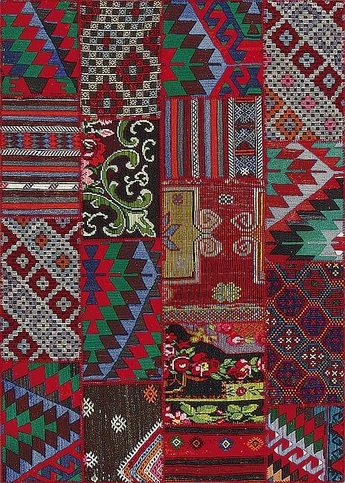 Vloerkleed Patch Collection - 9 - 002 Nieuw - Handgeweven Patchwork-tapijt. Samenstelling: 100% wol. Rug (gelijmd en genaaid): 100% katoen. Indien niet in voorraad is de levertijd circa 5 weken. Maatwerk mogelijk.