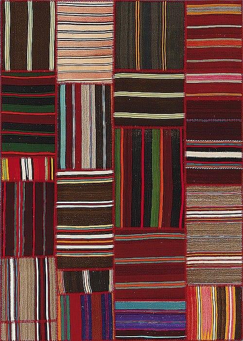 Vloerkleed Patch Collection - 9 - 003 Nieuw - Handgeweven Patchwork-tapijt. Samenstelling: 100% wol. Rug (gelijmd en genaaid): 100% katoen. Indien niet in voorraad is de levertijd circa 5 weken. Maatwerk mogelijk.