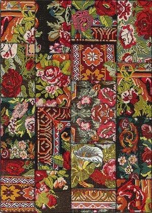 Vloerkleed Patch Collection - 9 - 005 Nieuw - Handgeweven Patchwork-tapijt. Samenstelling: 100% wol. Rug (gelijmd en genaaid): 100% katoen. Indien niet in voorraad is de levertijd circa 5 weken. Maatwerk mogelijk.
