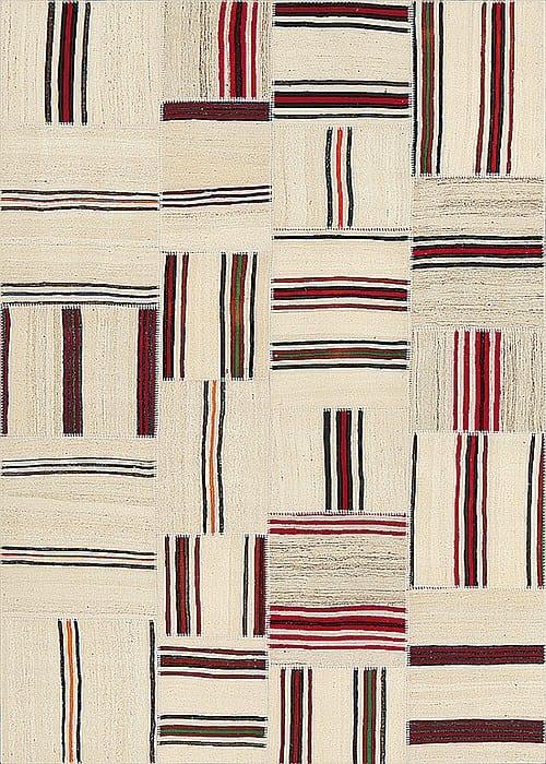 Vloerkleed Patch Collection - 9 - 008 Nieuw - Handgeweven Patchwork-tapijt. Samenstelling: 100% wol. Rug (gelijmd en genaaid): 100% katoen. Indien niet in voorraad is de levertijd circa 5 weken. Maatwerk mogelijk.