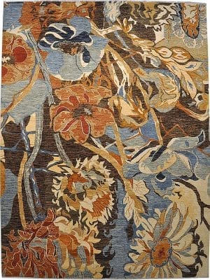 Vloerkleed Shalimar Flower 46893 - Exclusief Janssens Oriënt design. Handgesponnen wol en vaste kwaliteit.