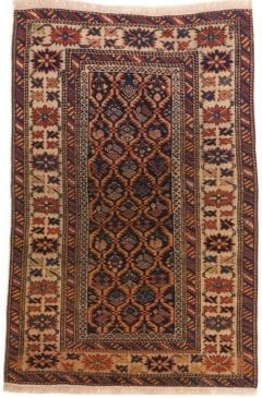 Vloerkleed Shirvan Antiek 20008 - Antiek Turks tapijt. Wollen ketting-inslag en poolgarens. Volledig plantaardige verfstoffen