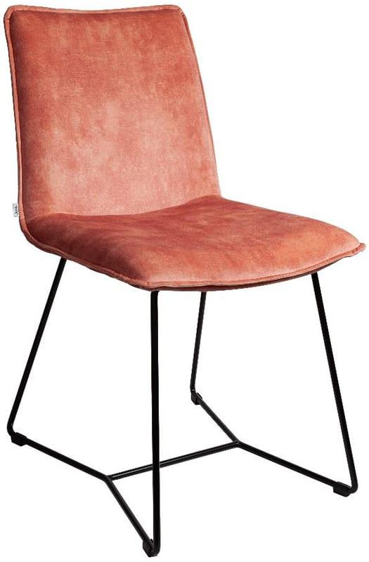 Liz stoel van Just Design, uitgevoerd in de fluweelachtige stof Adore 166 Blossom