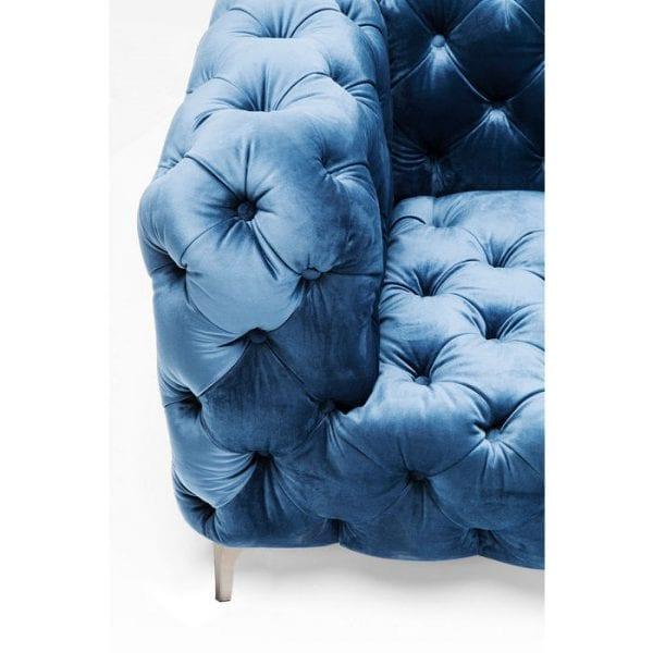 Kare Design Look 180cm Velvet Blue bank 83448 - Lowik Meubelen