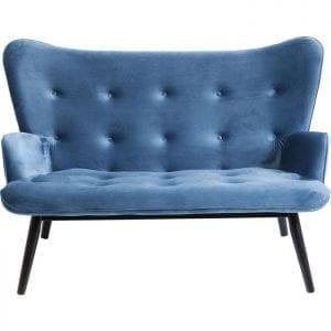 Kare Design Black Vicky Velvet Bluegreen bank 84429 - Lowik Meubelen