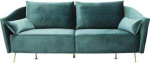 Kare Design Vegas Forever Bluegreen 3-Seater bank 83531 - Lowik Meubelen