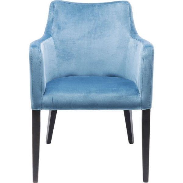 Kare Design Armstoel Black Mode Velvet Bluegreen 83576 Een echte klassieker: deze fauteuil is zo elegant als een cocktailstoel en tegelijkertijd echt comfortabel. De zachte, fluweelachtige bekleding en comfortabele armleuningen garanderen een goede tijd, ongeacht of u hem als eetkamerstoel, bureaustoel of gaststoel in de woonkamer gebruikt. - Lowik Meubelen