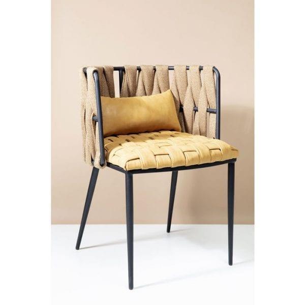 Kare Design Armstoel Cheerio Geel incl. Kussen 83643 Geen eetkamer zou zonder echt comfortabele stoelen moeten zijn. De Cheerio-fauteuil is een ster rond de tafel met zijn kleine kussen, ronde gordelrugleuning en een gevlochten zitvlak. Het geschilderde stalen frame zorgt voor stabiliteit. Het warme geel garandeert een zonnige atmosfeer. Ook verkrijgbaar als barkruk. - Lowik Meubelen