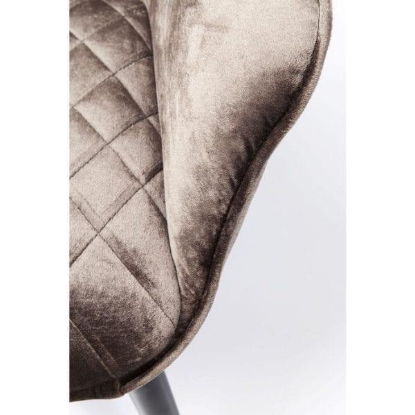Kare Design Armstoel Dream Brown 83936 Materiaal: hoes: 100% polyester, stoffering: 30 kg / m³ polyurethaan, zitting: gelamineerd fineerhout natuurlijk / onbehandeld, voet / onderstel: staal gepoedercoat, levering afgebroken, 48 cm zithoogte, onderhoud en reiniging: art. 25002 Meubelreiniger - Lowik Meubelen