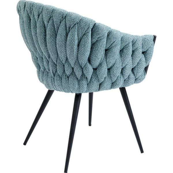 Kare Design Knot Bluegreen armstoel 84648 - Lowik Meubelen