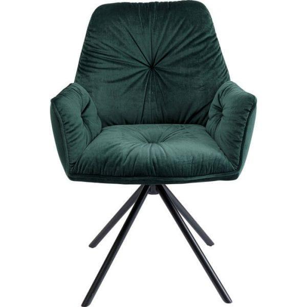 Kare Design Mila Green armstoel 84852 - Lowik Meubelen