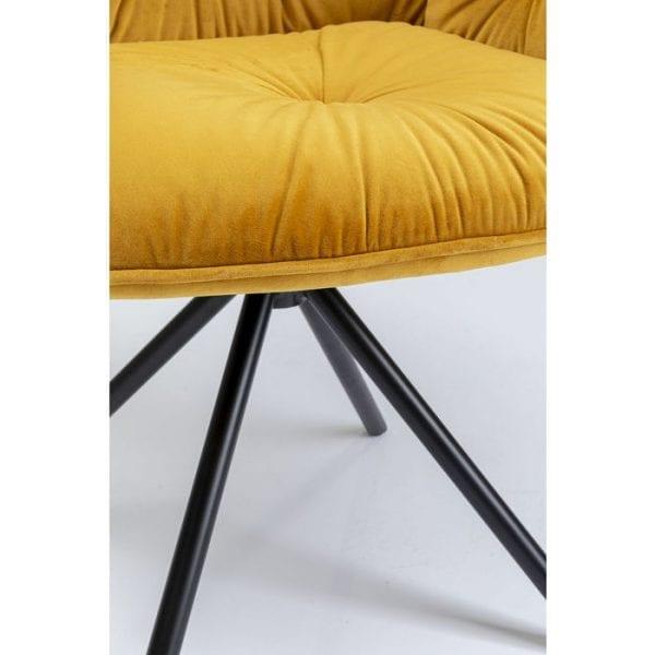 Kare Design Mila Yellow armstoel 84712 - Lowik Meubelen