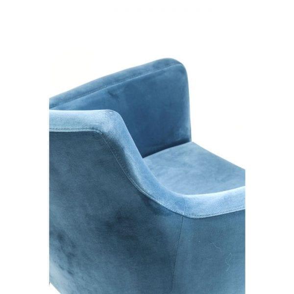 Kare Design Armstoel Mode Velvet Bluegreen 82469 Een elegante gestoffeerde stoel met een fluweelzachte hoes van polyester velours. Geeft elke eetkamer een vleugje exclusiviteit. De donkere houten poten dragen hier ook aan bij. Gemaakt in de EU. Andere versies beschikbaar. - Lowik Meubelen