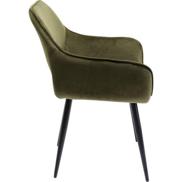 Kare Design San Francisco Dark Green armstoel 84758 - Lowik Meubelen