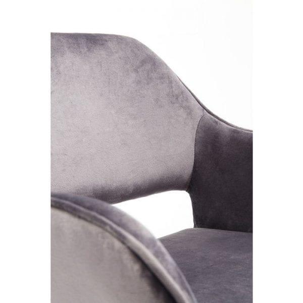 Kare Design Armstoel San Francisco 83314 Je zou het een leunstoel kunnen noemen. Immers, met zijn armleuningen is deze stoel minstens even comfortabel, dankzij de naadloze rugleuning en knuffelige bekleding. Maar de zithoogte maakt het verschil, zodat deze zich elegant en lichtvoetig aanpast aan eettafels en bureaus. De uitsparing aan de achterkant en de slanke gebogen poten geven het ook een ongewoon moderne lichtheid. - Lowik Meubelen