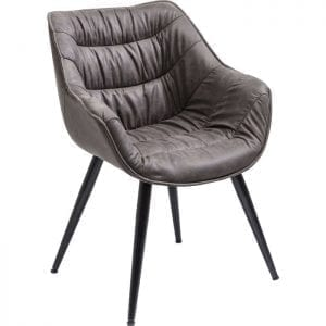 Kare Design Armstoel Thelma 82243 De Thelma fauteuil straalt pure gezelligheid uit. De siernaden die over de zitting en de rug lopen en de aantframekelijke plooien van de hoes maken van deze gestoffeerde stoel een stijlvol meubelstuk in de eetkamer. - Lowik Meubelen