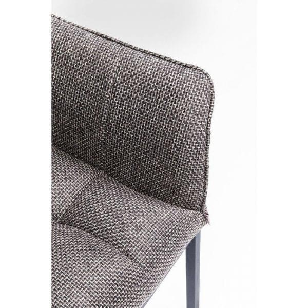 Kare Design Armstoelen 80674 Een comfortabele stoel uit de Thinktank-serie, met een moderne, stijlvolle uitstraling. Past in bijna elke ambiance. Hoes: 100% polyester. Frame: gepoedercoat staal. Zithoogte 49cm. max. laad 120kg. Verdere versies ook beschikbaar. - Lowik Meubelen