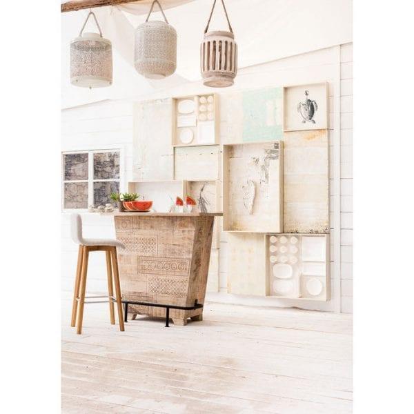 Kare Design LARA Ecru barstoel 81234 - Lowik Meubelen