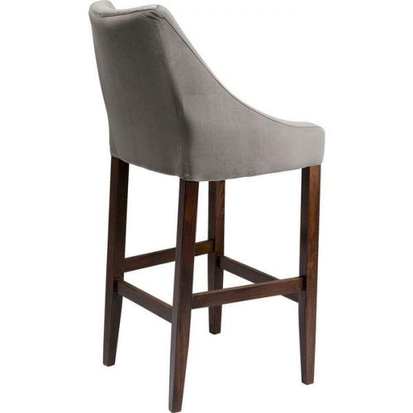 Kare Design Mode Velvet Grey barstoel 84956 - Lowik Meubelen