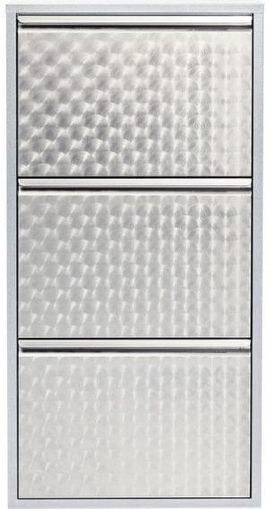 Kare Design Caruso 3 Silver brushed (MO) schoenenkast 49273 - Lowik Meubelen