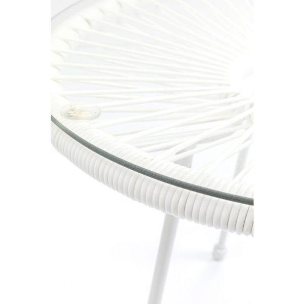 Kare Design Acapulco White bijzettafel 84925 - Lowik Meubelen