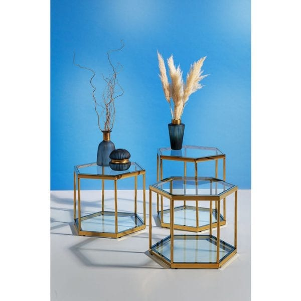 Kare Design Comb Gold 55cm bijzettafel 85029 - Lowik Meubelen
