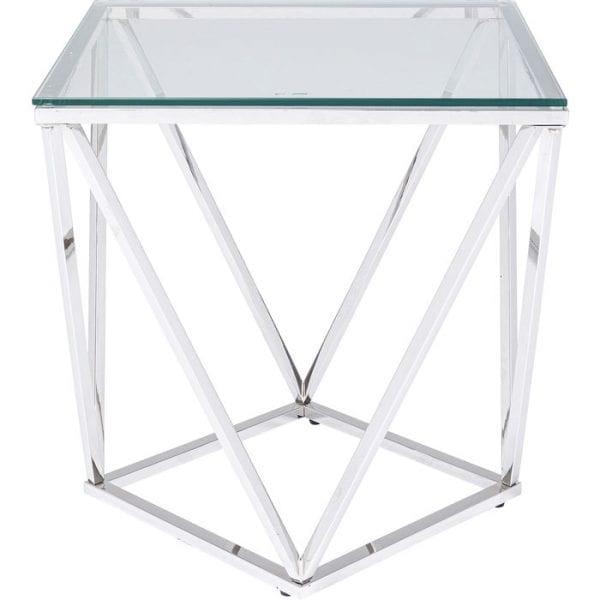 Kare Design Cristallo 50x50cm bijzettafel 85031 - Lowik Meubelen