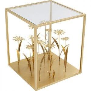 Kare Design Flower Meadow Gold 40x40cm bijzettafel 85064 - Lowik Meubelen