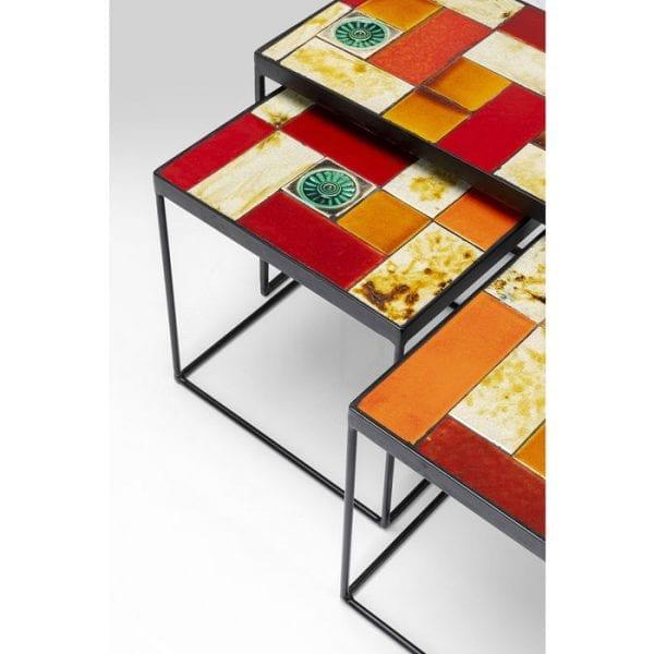 Kare Design Lisboa (3/Set) bijzettafel 81130 - Lowik Meubelen