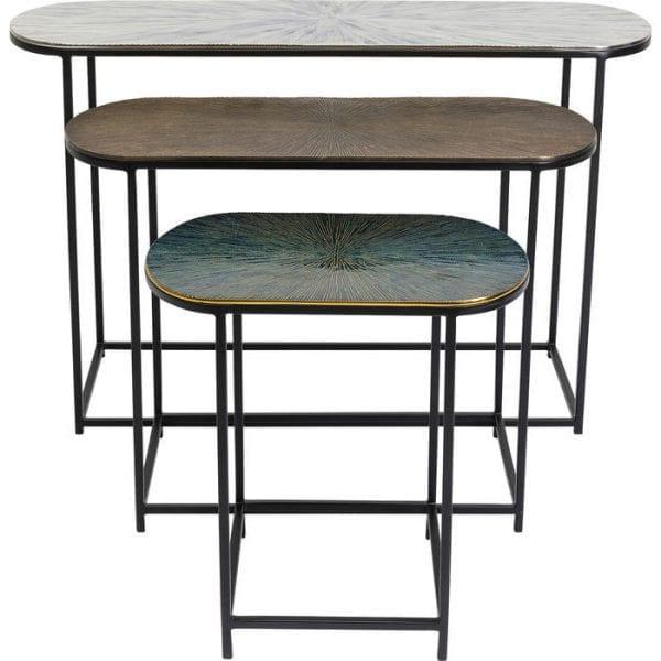 Kare Design Ray Oval (3/Set) bijzettafel 84789 - Lowik Meubelen