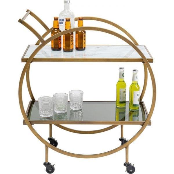 Kare Design Tafel Loft Brass tray 84824 - Lowik Meubelen