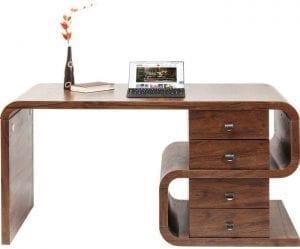 tafel Bureau Soft Snake Walnut 150x70cm Kare Design tafels - 82993 - Lowik Meubelen
