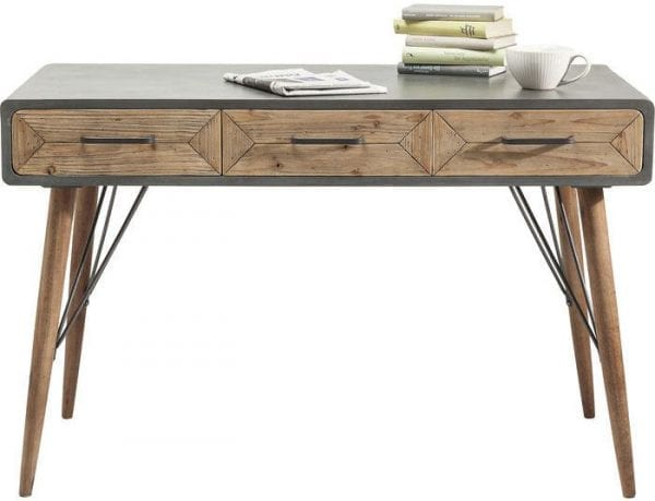 tafel Bureau X Factory 3 Drw 120x60cm Kare Design tafels - 80324 - Lowik Meubelen