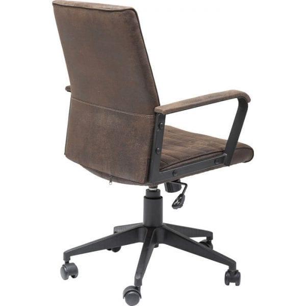 Kare Design Bureaustoel Labora Brown 79946 De trendy bureaustoel wordt versterkt door de gewatteerde lederen look. De comfortfuncties omvatten armleuningen en een ergonomisch gevormde rugleuning. Het frame is continu in hoogte verstelbaar en draaibaar. - Lowik Meubelen