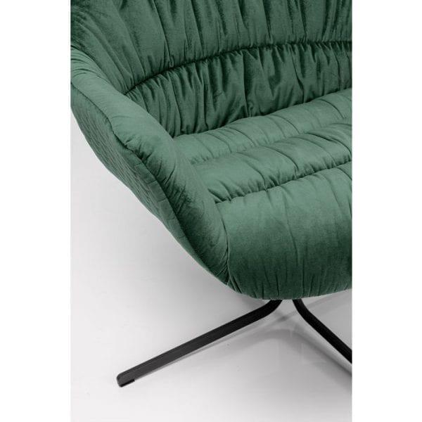 Kare Design Bristol Green draaifauteuil 80029 - Lowik Meubelen