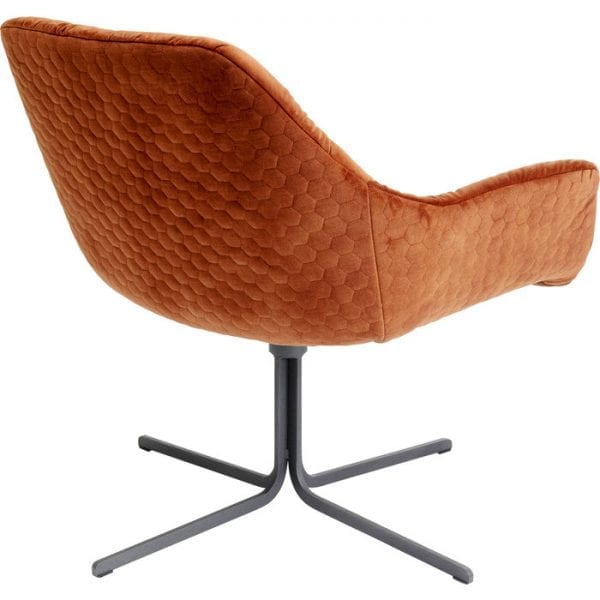 Kare Design Bristol Rust Red draaifauteuil 80030 - Lowik Meubelen