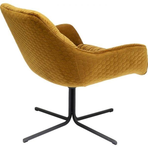 Kare Design Bristol Yellow draaifauteuil 80028 - Lowik Meubelen