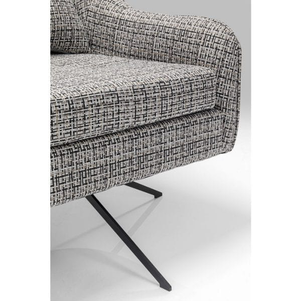 Kare Design Iceland Black White draaifauteuil 85146 - Lowik Meubelen