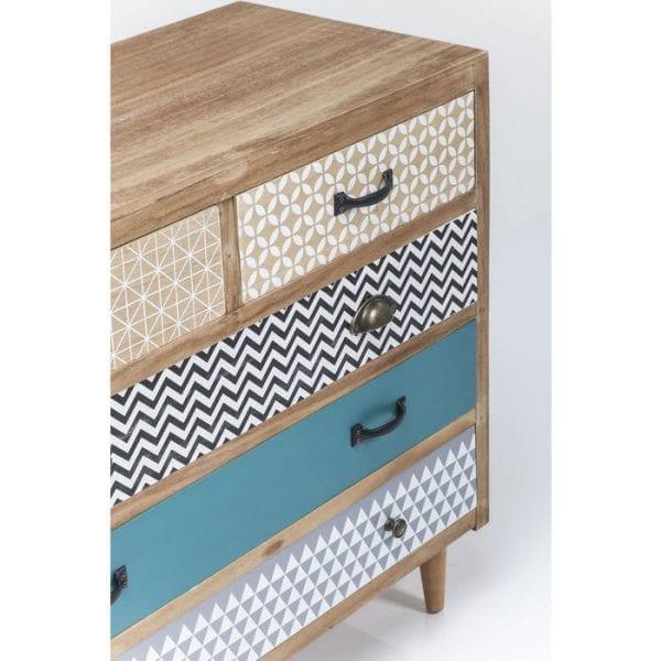 Kare Design Capri 5Drw 90cm dressoir 80380 - Lowik Meubelen