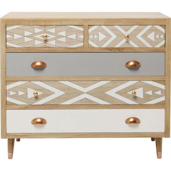 Kare Design Oase 5Drw 90cm dressoir 83307 - Lowik Meubelen