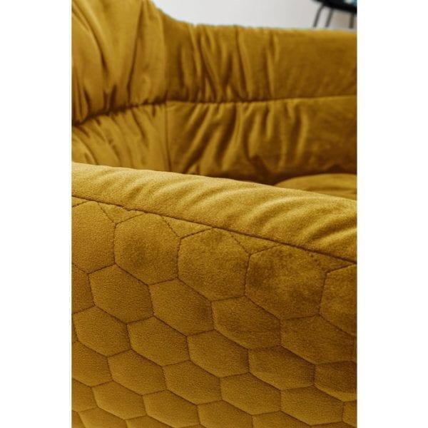 Kare Design Colmar Yellow draaistoel 80042 - Lowik Meubelen