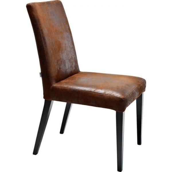 Kare Design Eetstoel Casual vintage 77633 Een elegante gestoffeerde stoel in het klassieke ontwerp - de stoel met de bekleding Casual Vintage maakt een sterke indruk met zijn elegante, klassieke stijl. De hoes heeft een exclusieve lederlook met een vintage afwerking, terwijl de poten van geschilderd beukenhout zijn en de robuuste bekleding superieur zitcomfort biedt. Als een afzonderlijk item of in een groep heeft de stoel een breed scala aan toepassingen omdat het klassieke ontwerp harmonieert met vele inrichtingsstijlen. Ook beschikbaar in andere versies. - Lowik Meubelen