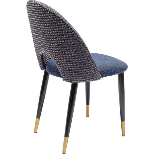 Kare Design Hudson Blue eetstoel 80004 - Lowik Meubelen